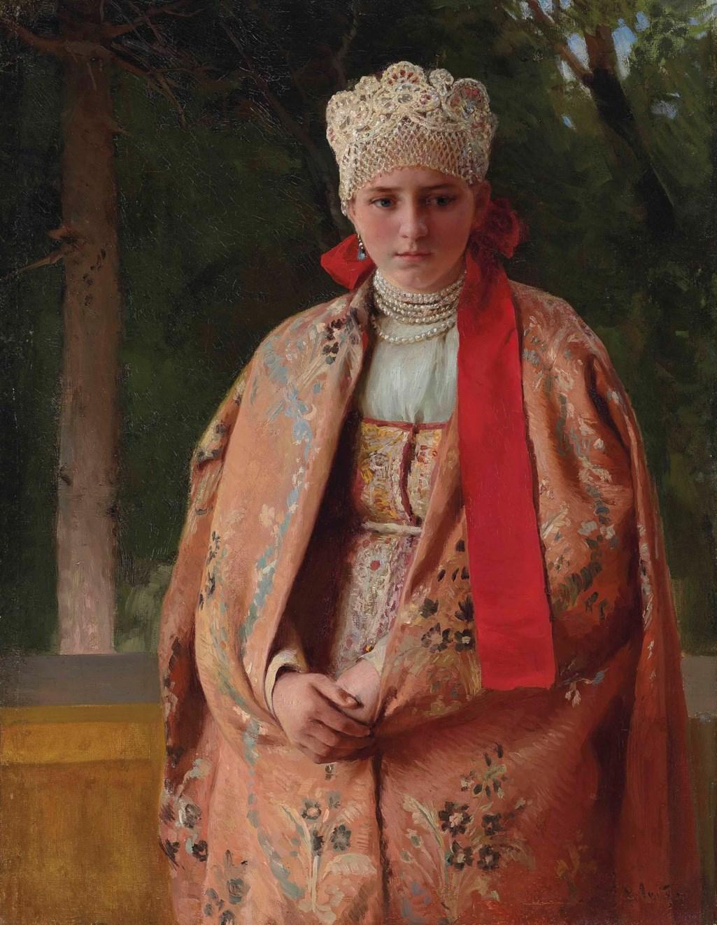 Klavdii Lebedev (1852-1916) Boyarina